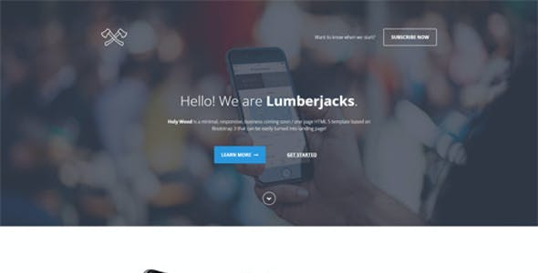 Holy Wood - Multipurpose Landing Page Template