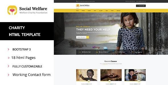 Social Welfare - Charity & Non-Profit HTML Template - Nonprofit Site Templates