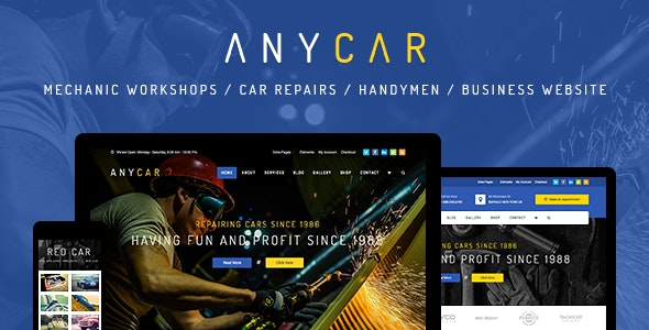 AnyCar - Automotive, Dealership WordPress Theme - Business Corporate
