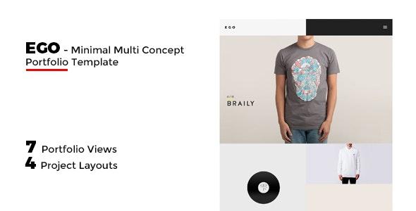 EGO - Multi-Concept Portfolio -Freelancer / Agency - Portfolio Creative