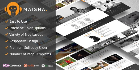 Maisha - Charity WordPress Theme - Charity Nonprofit