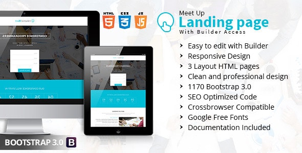 Meet Up Landing Page With Builder Access - Marketing Corporate