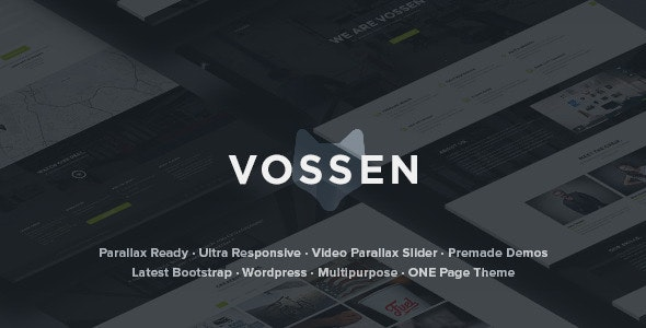Vossen - Parallax Multipurpose Wordpress Theme - WordPress