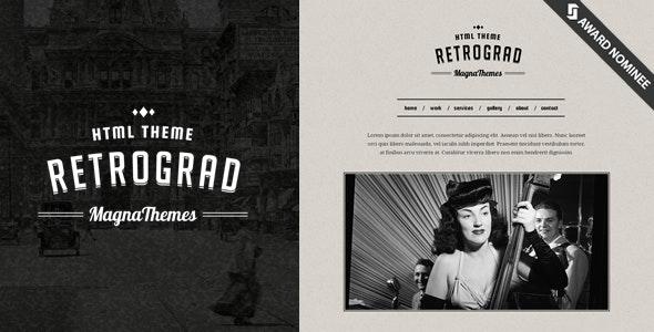 RetroGrad | Vintage Html Template  - Creative Site Templates