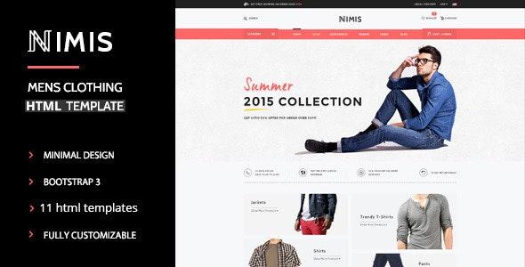 Nimis - eCommerce Shop HTML Template - Shopping Retail