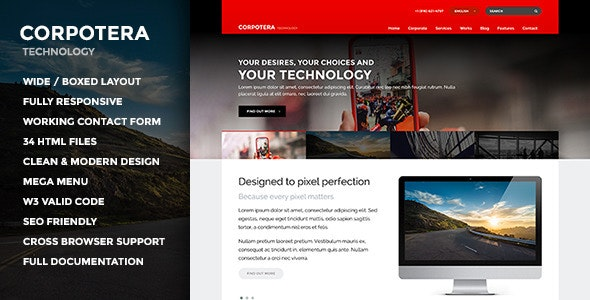 CORPOTERA - Multi-Purpose HTML Template - Corporate Site Templates