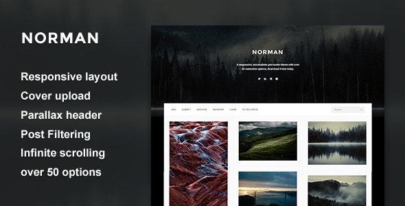 Norman - Responsive Grid Theme - Blog Tumblr