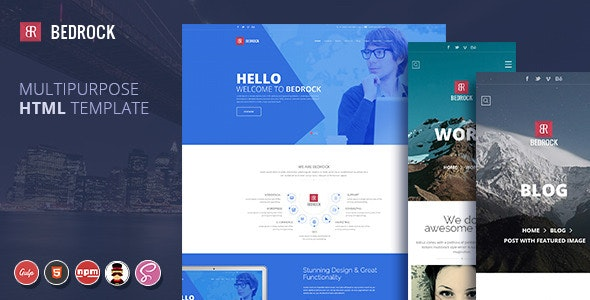 Bedrock | Multipurpose HTML Template - Business Corporate