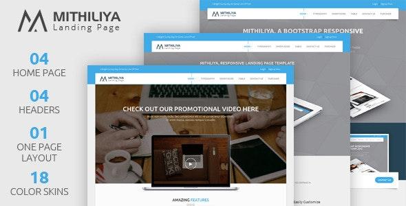 Mithiliya: Multipurpose Landing Page Template - Landing Pages Marketing
