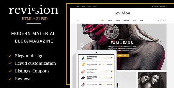 Revision - Elegant Material Design HTML Theme - Miscellaneous Site Templates