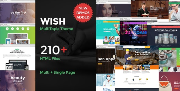 Wish-Multipurpose MultiPage + One Page - Corporate Site Templates