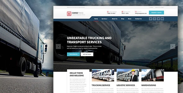 CargoPress - Logistic, Warehouse & Transport WP - Business Corporate