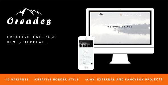 Oreades - Creative One-Page HTML5 Template - Creative Site Templates
