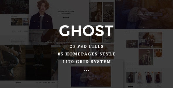 Ghost - Fashion eCommerce PSD Template - Fashion Retail
