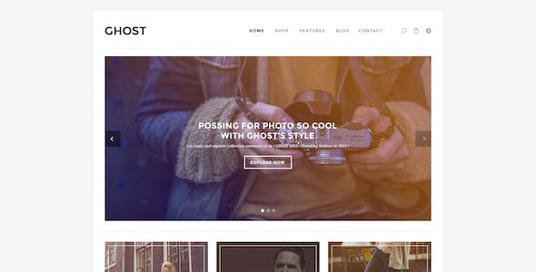Ghost - Fashion eCommerce PSD Template