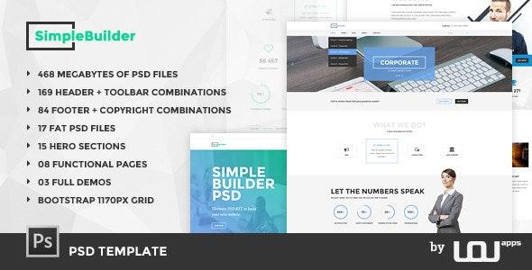 SimpleBuilder - PSD Template - Corporate Photoshop