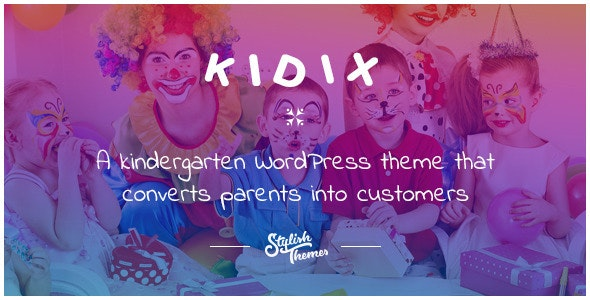 KIDIX - A Kindergarten WordPress Theme - Education WordPress