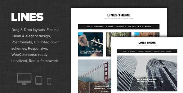 Lines - Elegant Personal / News WordPress Theme - Personal Blog / Magazine