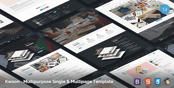 Kwoon - Multipurpose Single/Multi-page Template - Corporate Site Templates