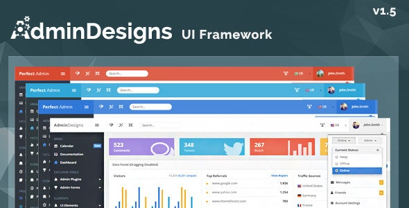AdminDesigns - Bootstrap Admin Template Framework - Admin Templates Site Templates