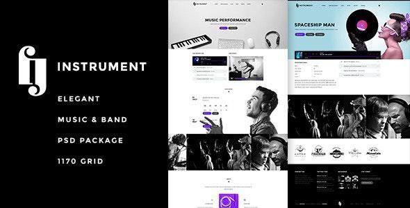 Instrument - Elegant Music & Bands PSD - Entertainment Photoshop
