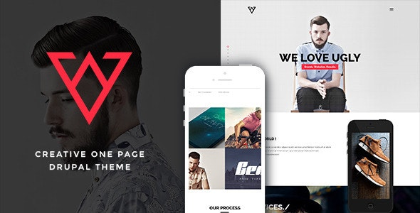 Viska - Creative One Page Drupal Theme - Portfolio Creative