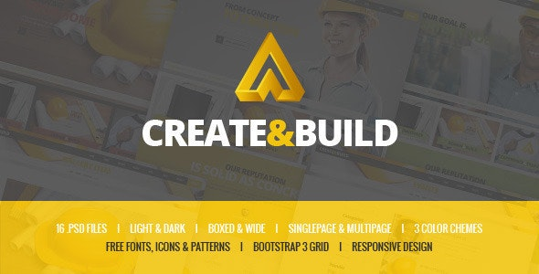 Create & Build - Constructions & Engineering template - Business Corporate