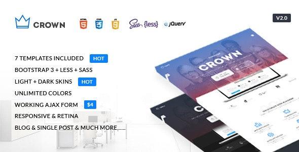 Crown - Multipurpose Responsive Landing Page - Marketing Corporate