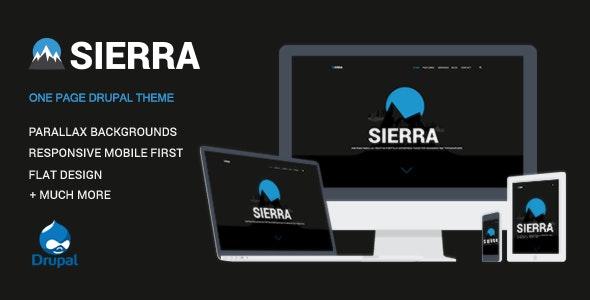 Sierra - One Page Responsive Drupal Template - Creative Drupal