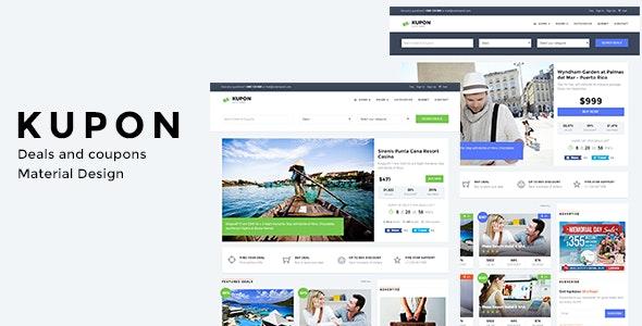 KUPON -  Deals & Discounts - Material Design - Marketing Corporate
