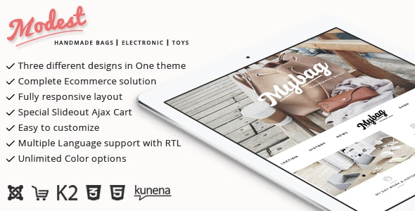 Modest - Multipurpose Joomla Virtuemart Theme - VirtueMart Joomla