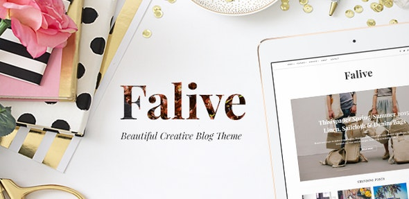 Falive - Beautiful Creative & Fashion Blog Theme - Personal Blog / Magazine