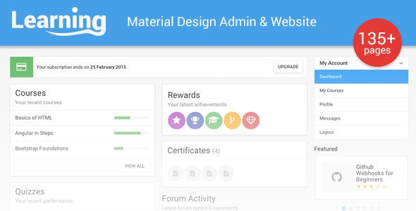 Learnly - Learning Management System Template - Admin Templates Site Templates