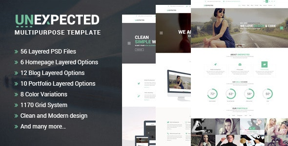 Unexpected Multipurpose PSD Template - Business Corporate