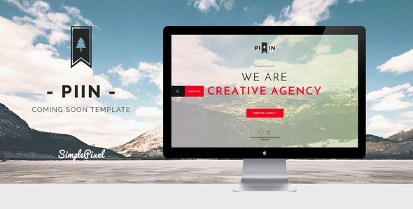 Piin - Minimalist Coming Soon Template - Under Construction Specialty Pages