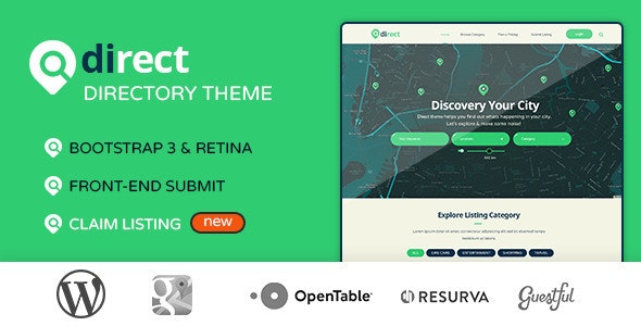 Pro Direct - Directory & Listing Wordpress Theme - Directory & Listings Corporate