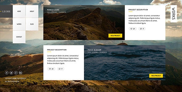Leore - Creative Photography Wordpress Theme - Photography Creative