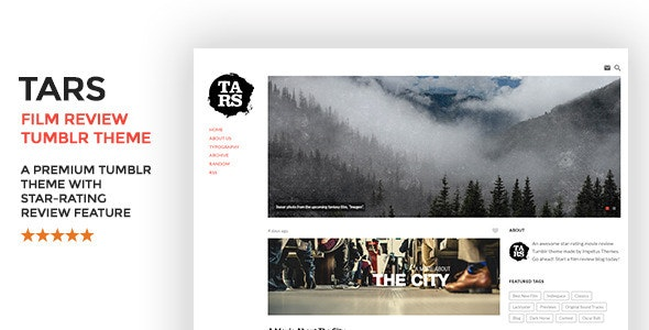 Tars Film Review Tumblr Theme - Blog Tumblr