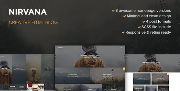 Nirvana Creative Blog Template