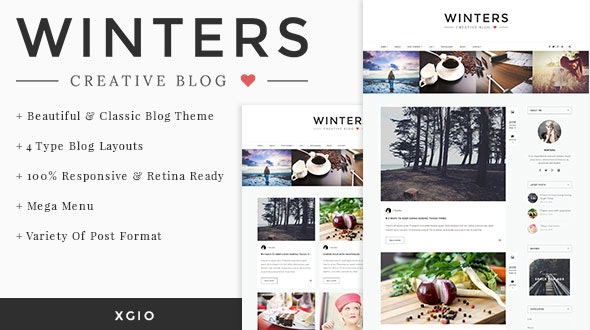 Winters - Personal HTML Blog Template - Personal Site Templates