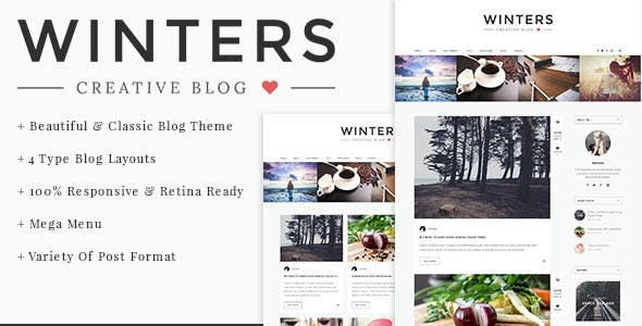 Winters - Personal HTML Blog Template