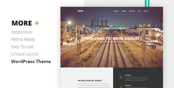 MORE - Creative One Page Wordpress Theme