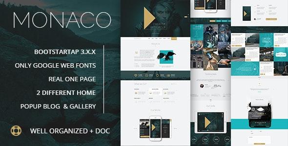 Monaco || Creative HTML5, Bootstrap Template - Creative Site Templates
