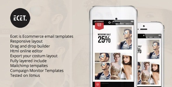 Ecet - E-Business Responsive Newsletter + Online Editor Access - Email Templates Marketing