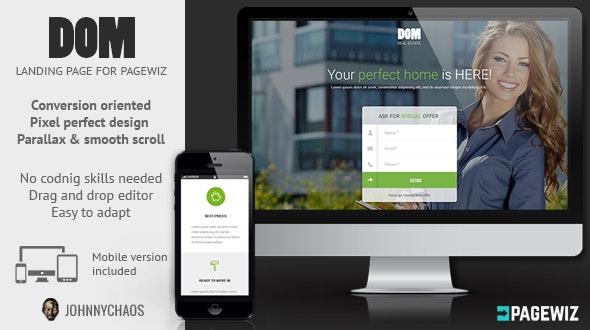 DOM - Real Estate Pagewiz Landing Page - Pagewiz Marketing
