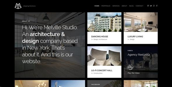 Melville – Architecture WordPress Theme - Business Corporate