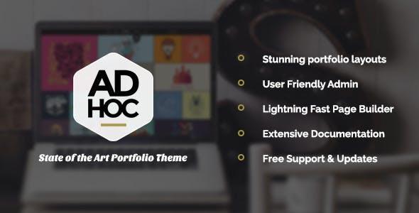 Ad Hoc Portfolio - Agency & Photography Portfolio