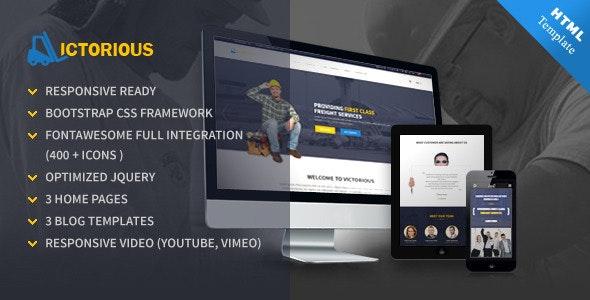 Victorious multi-purpose HTML5 template - Corporate Site Templates
