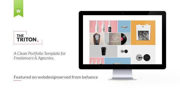 The Triton - Multipage Portfolio Template - Portfolio Creative