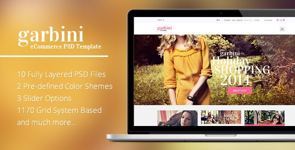 Garbini - Amazing eCommerce PSD Template - Fashion Retail